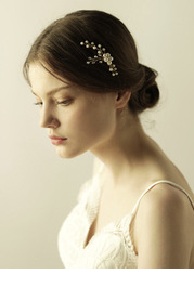 Freshwater Pearl and Floral Headpieces