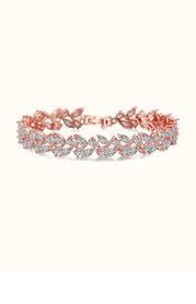 Rose Gold Laurel Leaf Bracelet