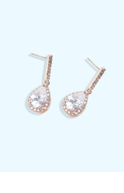 Pear Solitaire Drop Earrings