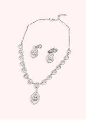 Haloed Tear Drop Jewelry Set