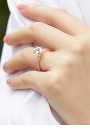 Dainty Love CZ Ring