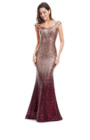 EVER-PRETTY Zip Back Sequin Mermaid Prom Dress