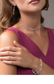 Elegant and Exquisite Crystal Jewelry Set