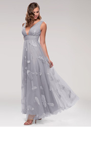 Blush Mark Lost In Paradise {Color} Embroidery Tulle Maxi Dress
