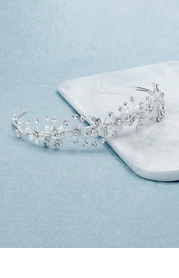 Crystal Floral and Pearl Headband