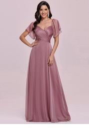 EVER-PRETTY Wrap Detail Mesh Dress