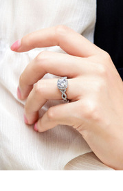 Swirling Hearts CZ Ring