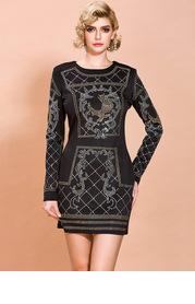 Missord Rhinestone Detail Zip Back Dress
