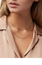 Simple Elegance Double Chain Necklace