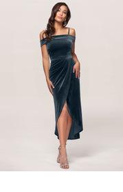 Blush Mark Sweet Desire {Color} Velvet Midi Dress