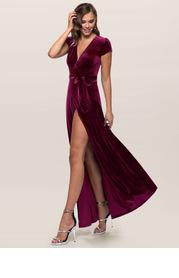 Blush Mark Dreaming Of You {Color} Velvet Maxi Dress