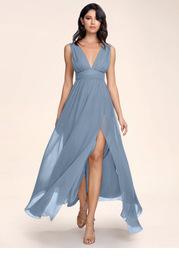 Blush Mark Dancing Queen {Color} Chiffon Maxi Dress