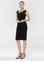EVER-PRETTY Asymmetrical Neck Split Hem Dress
