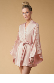 Butterfly Lace Sleeve Robe