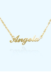 Modern Personalized Name Necklace