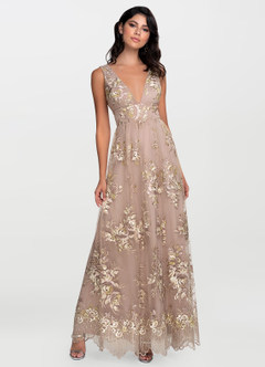 azazie-Blush Mark Romantic Adventure Dusty Rose Embroidery Maxi Dress