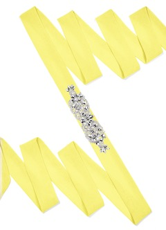 Chiffon Sash with Butterfly Beading