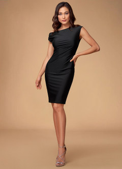 Stay With Me Black Midi Dress