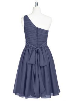 Stormy blue bridesmaid dresses