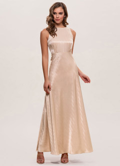 Luster Rose Gold Maxi Dress