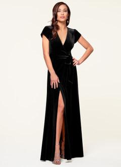 Dreaming Of You Black Velvet Maxi Dress
