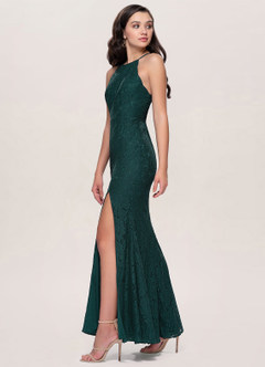 Mademoiselle Dark Green Lace Maxi Dress
