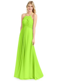 Lime Green Shoulder Dress