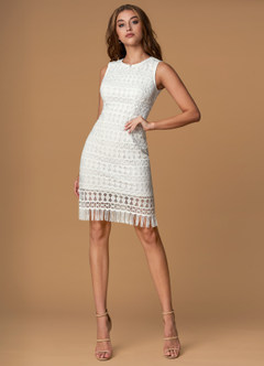 Summer Lovin White Crochet Lace Midi Dress