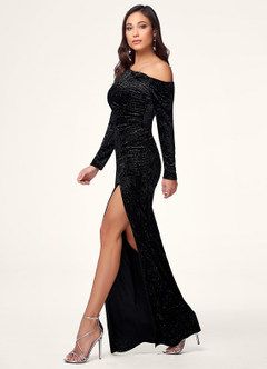 Jetsetter Black Velvet Maxi Dress