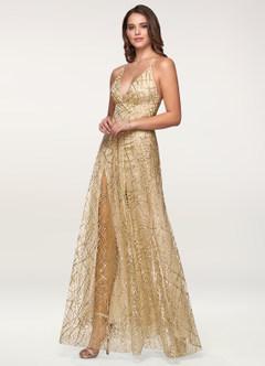 Moment To Shine Gold Maxi Dress