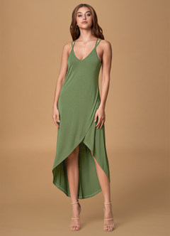 Morning Light Olive Midi Dress
