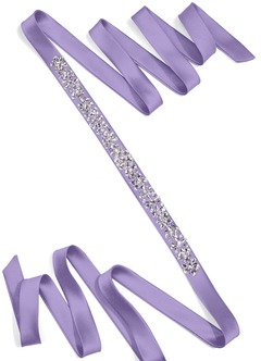 Satin Sash with Starlight Beading