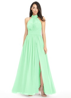 Mint colored dresses for bridesmaids