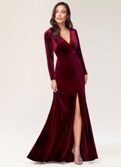 New Moon Burgundy Velvet Maxi Dress