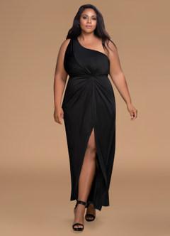 First Kiss Black Maxi Dress