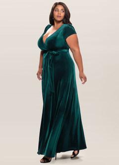Dreaming Of You Dark Green Velvet Maxi Dress