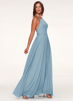 Romeo and Juliet Slate Blue Maxi Dress