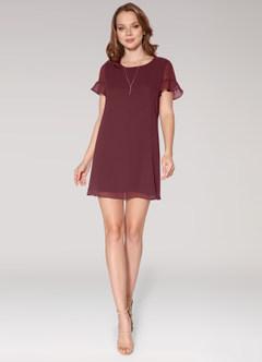 azazie-Blush Mark Sunlight Cabernet Mini Dress