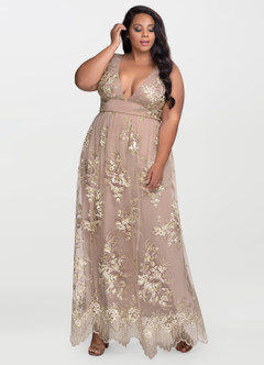 Romantic Adventure Dusty Rose Embroidery Maxi Dress