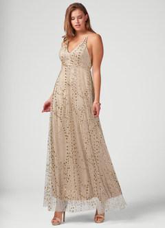 My Beloved Champagne Maxi Dress