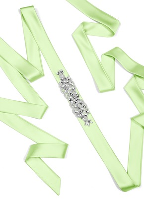 Charmeuse Sash with Butterfly Beading