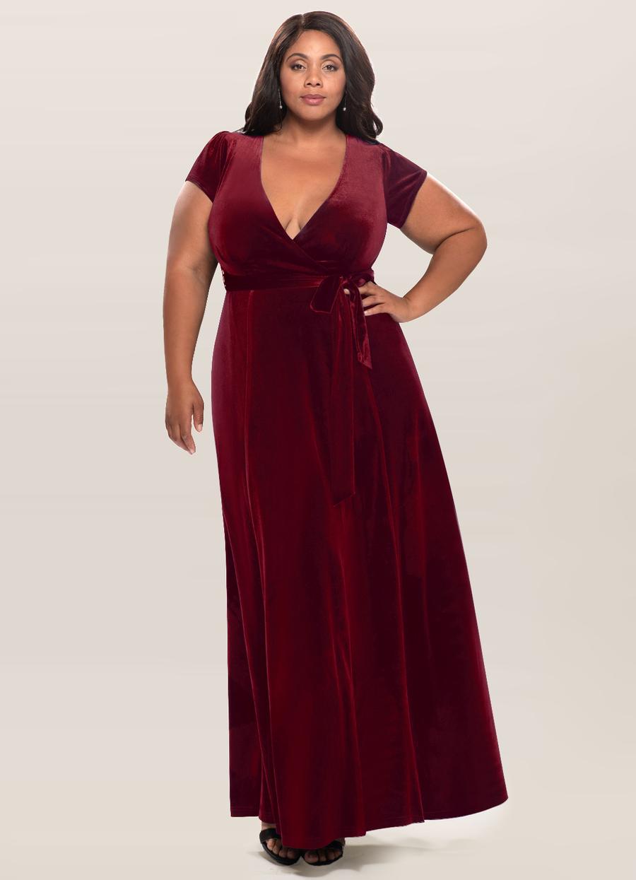 Dreaming Of You Burgundy Velvet Maxi Dress