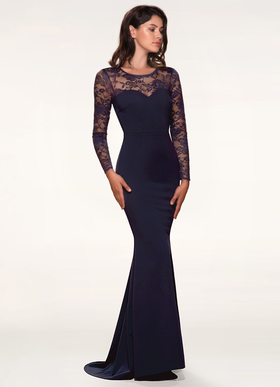 Americano Navy Blue Maxi Dress