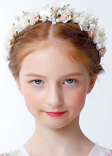front_Athena Flower Girl Headpiece