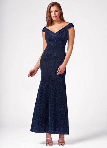 Mermaid Dark Navy Maxi Dress