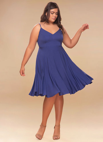 Adore Royal Blue Midi Dress
