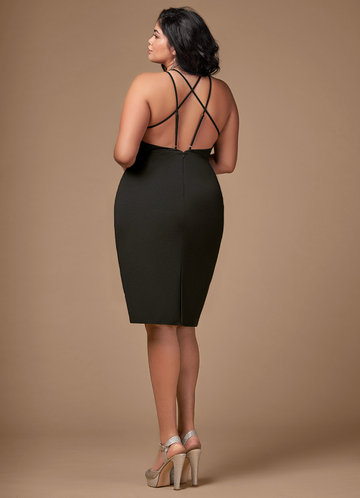 back_Blush Mark Plus Size Cocktail Hour  Midi Dress