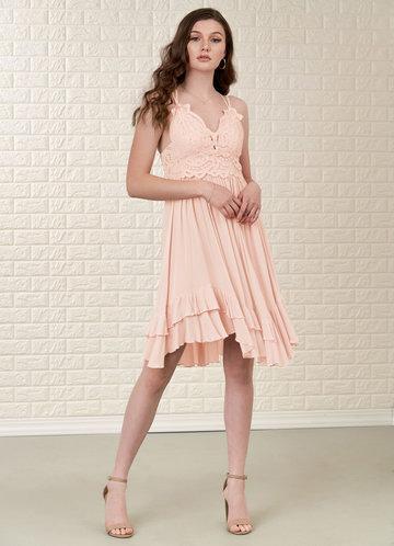 front_Blush Mark Imagining {Color} Mini Dress