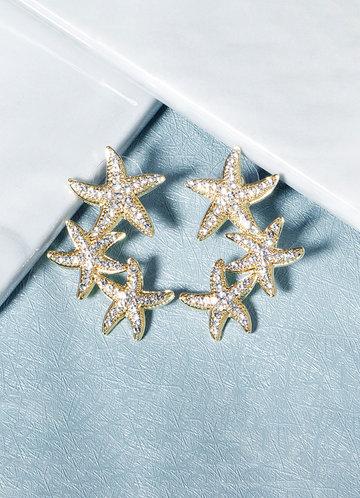 back_Starfish Cluster Earrings