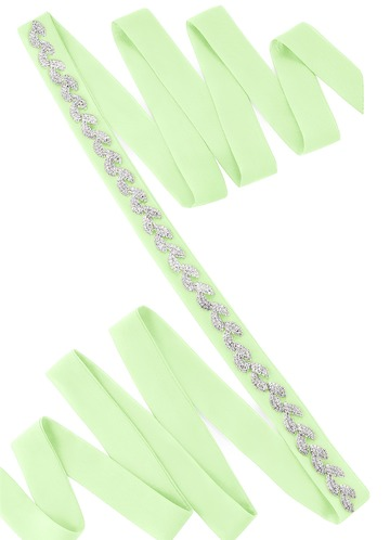 Chiffon Sash with Laurel Leaf Beading